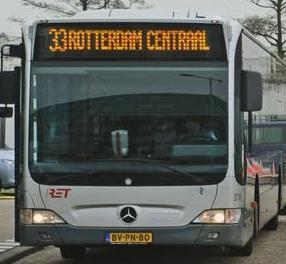 Bus from Rotterdam The Hague Airport to Rotterdam
